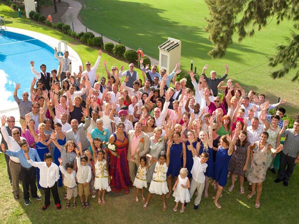 guests at wedding in Spain Mijas