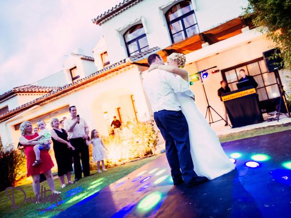 Bride & groom first dance at wedding in Spain