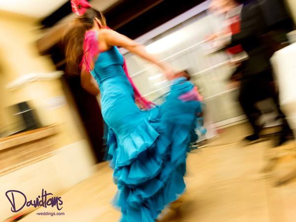 Flameco dancer performing at Spanish Villa Wedding in Spain