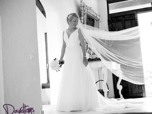 bride at her wedding in Spain