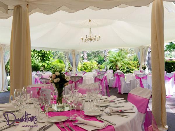 Dinner Setting at Wedding Villa Venue in Marbella