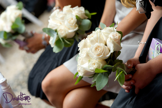 Bridemaid's bouquets at Lisa's wedding in Spain