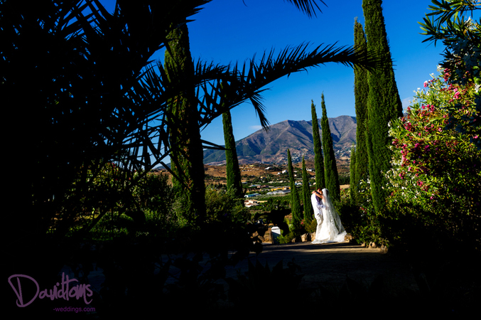 views of Mijas on our wedding day in Spain