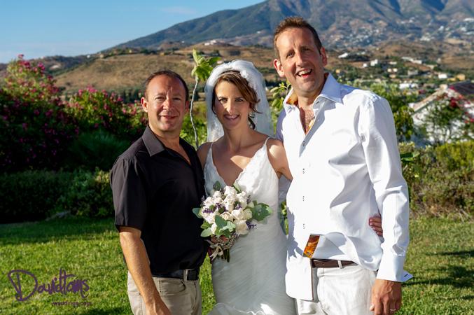 Wedding planner in Spain with bride & groom