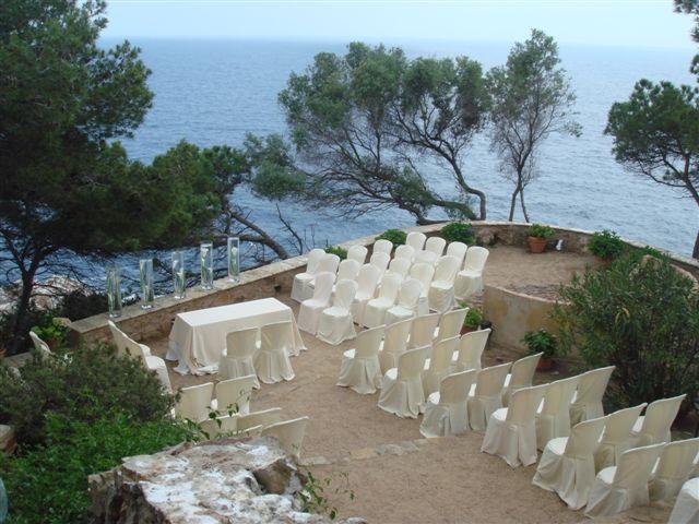 Ceremony sea view wedding venue in Barcelona