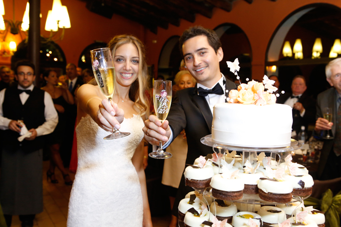 Bride & groom at their wedding in Barcelona