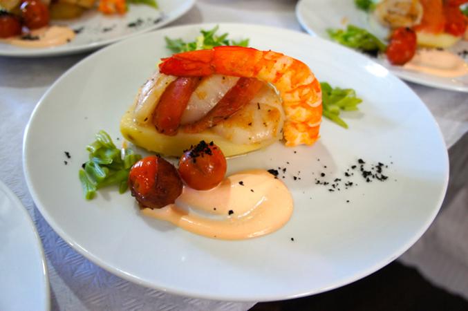 Sea Food dish - beach wedding in Spain