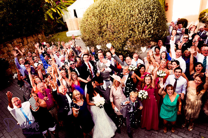 Guests at a wedding in Spain