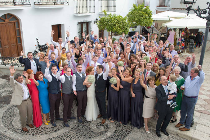Wedding-guests-at-weddign-in-Nerja-Spain
