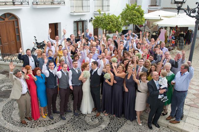 Wedding-guests-at-weddign-in-Nerja-Spain