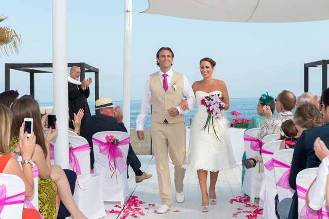 Bride-and-groom-at-their-wedding-cermeony-in-Estepona,-Spain