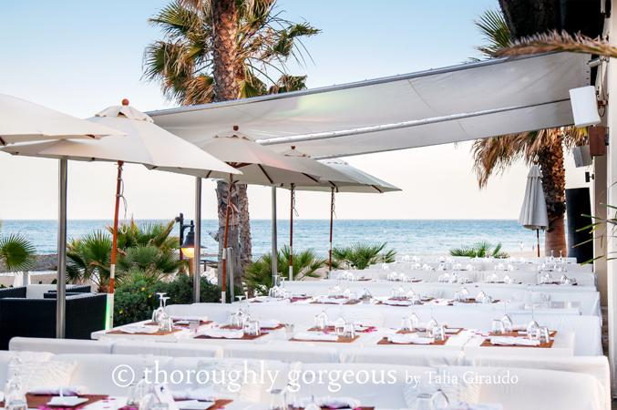 Dining-area-at-beach-club-wedding-venue-in-Estepona-Spain