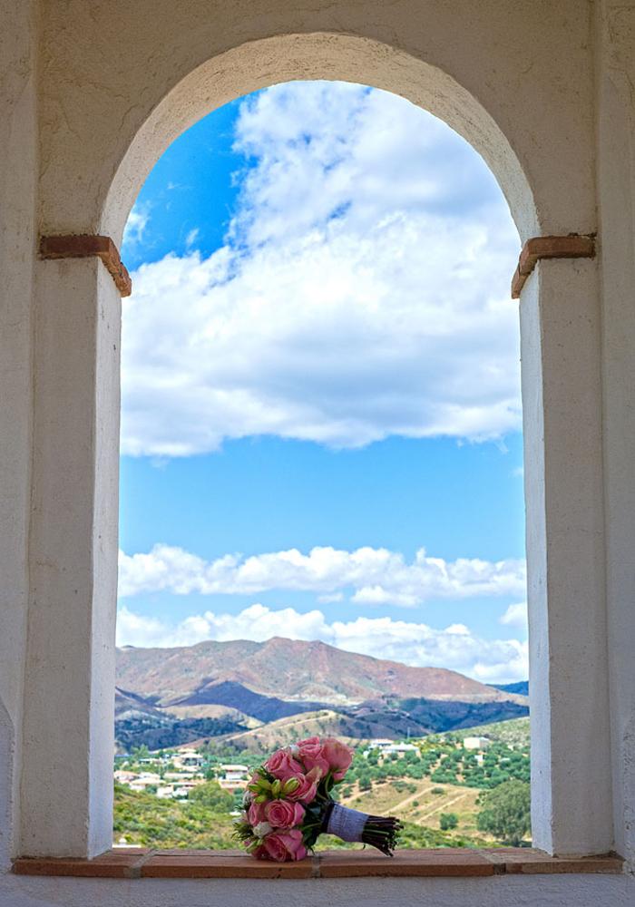 Rural wedding setting, Spain