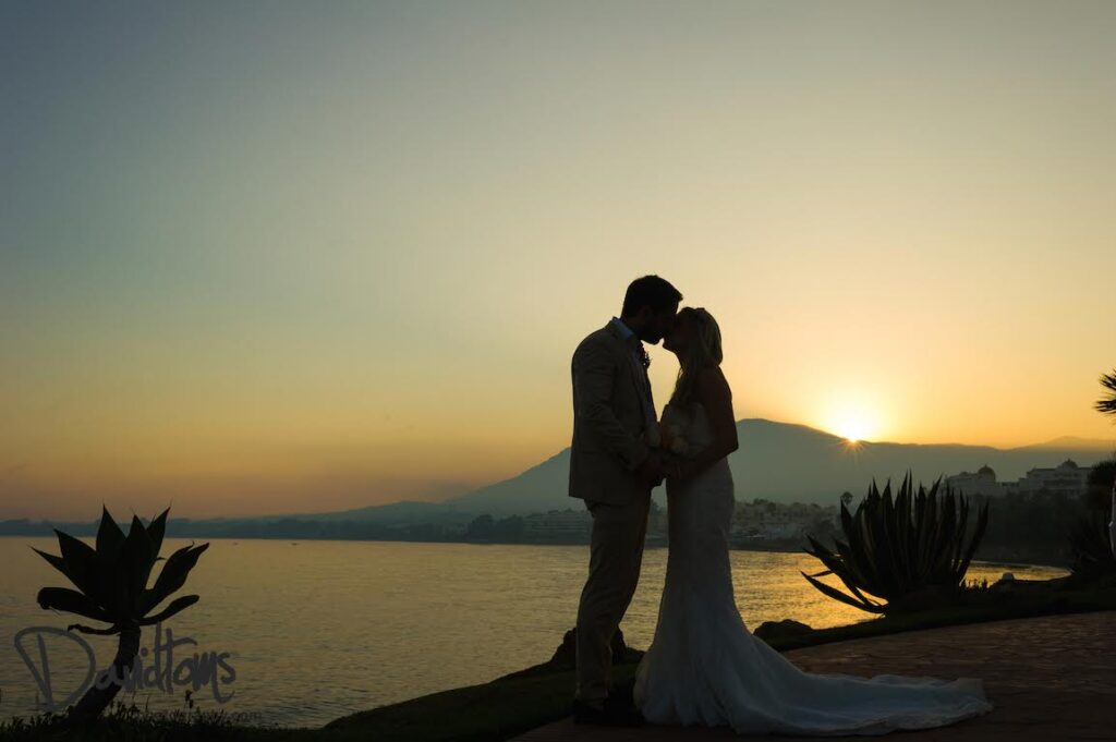 Wedding venue in Marbella by the sea bridal couple romantic