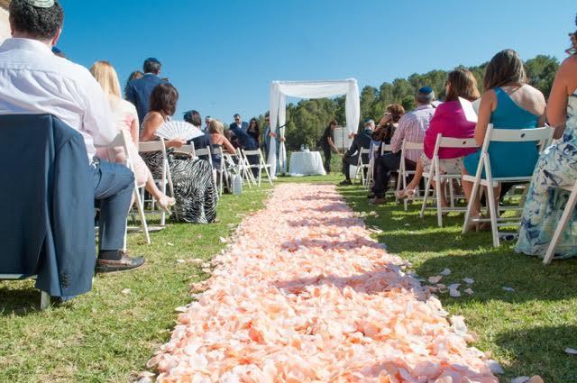 Mallorca wedding venue ceremony with guests