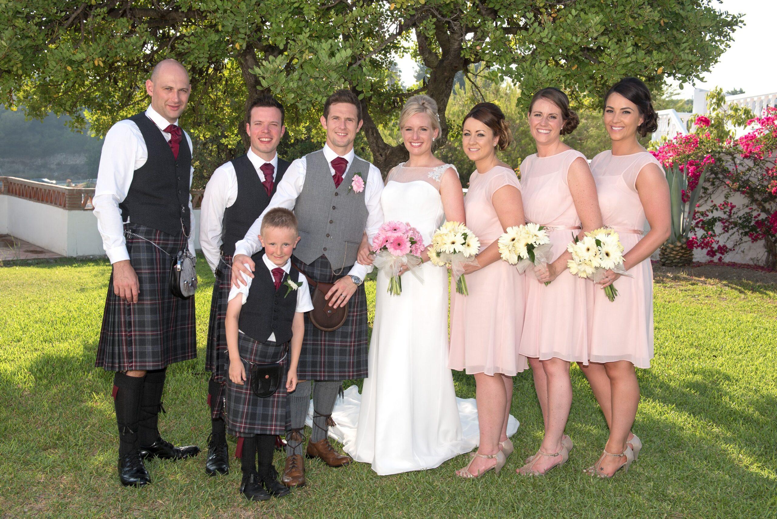 scottish wedding in Nerja Spain