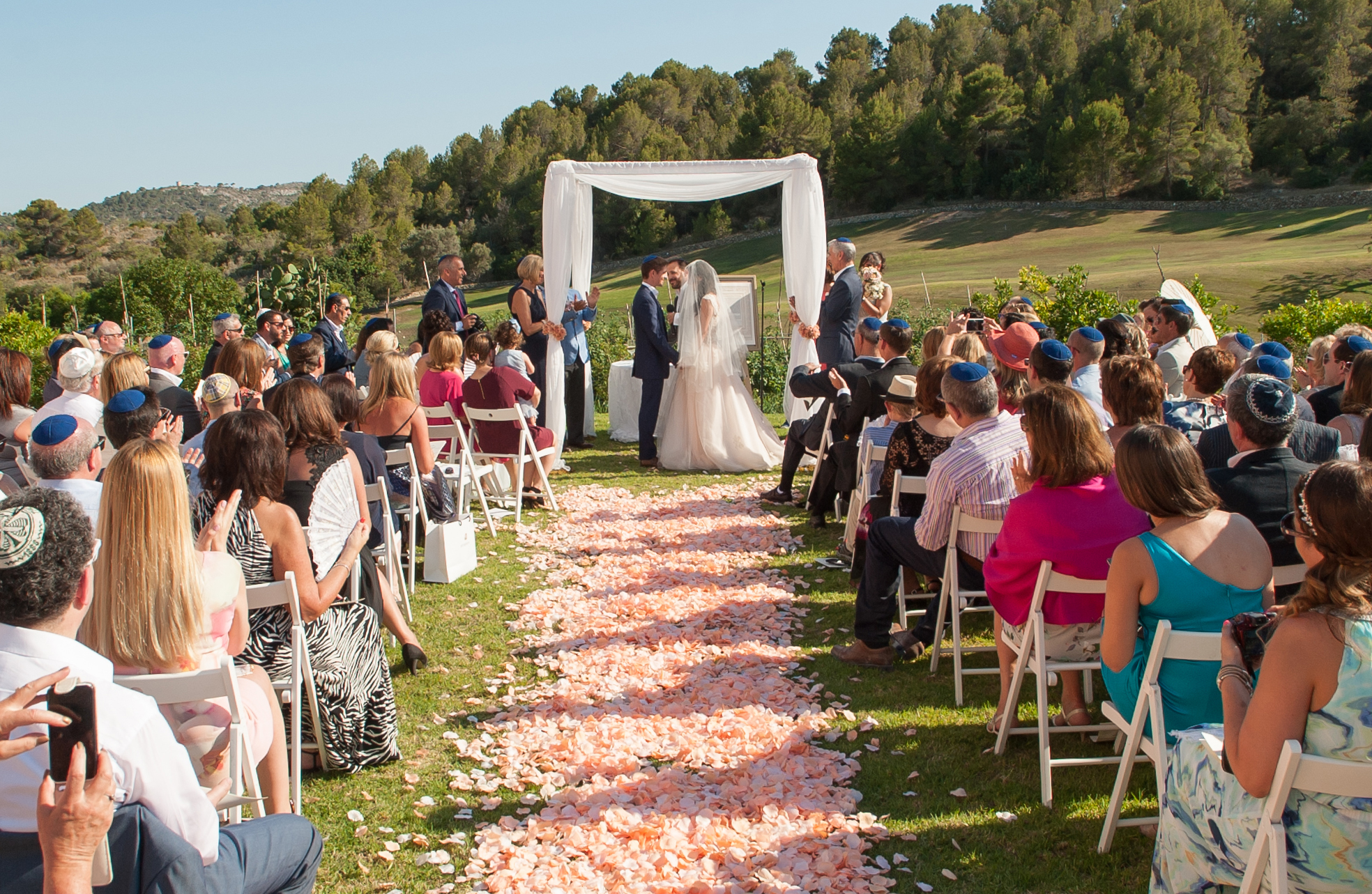 Jewish wedding ceremony in Mallorca