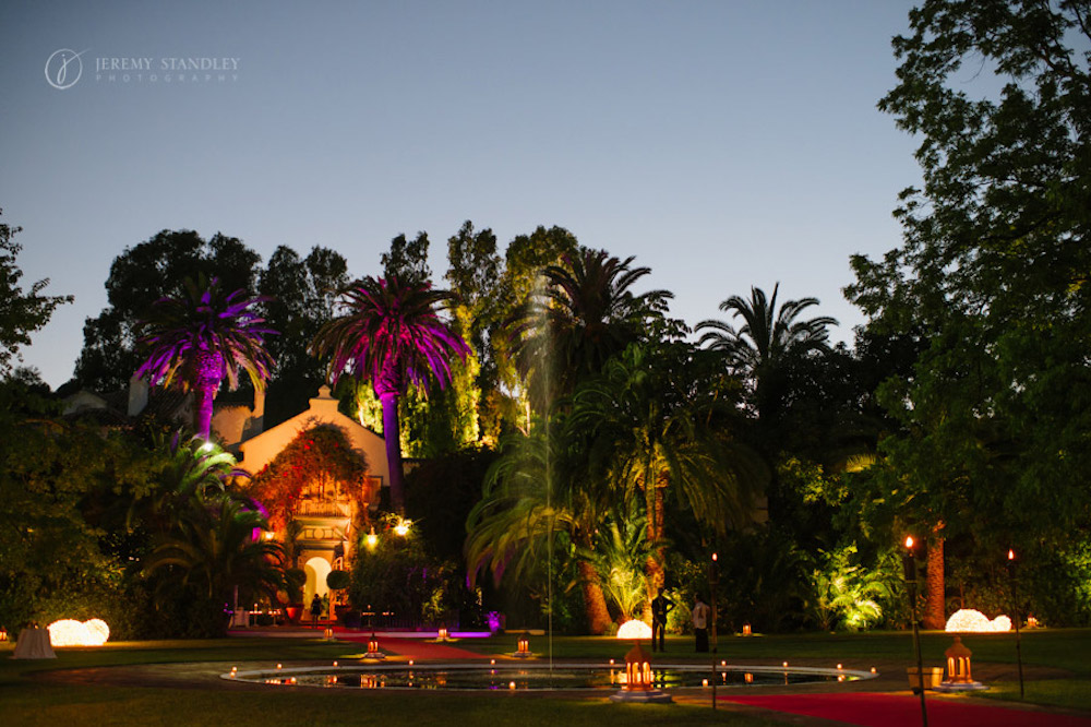 Wedding setting at Finca Marbella
