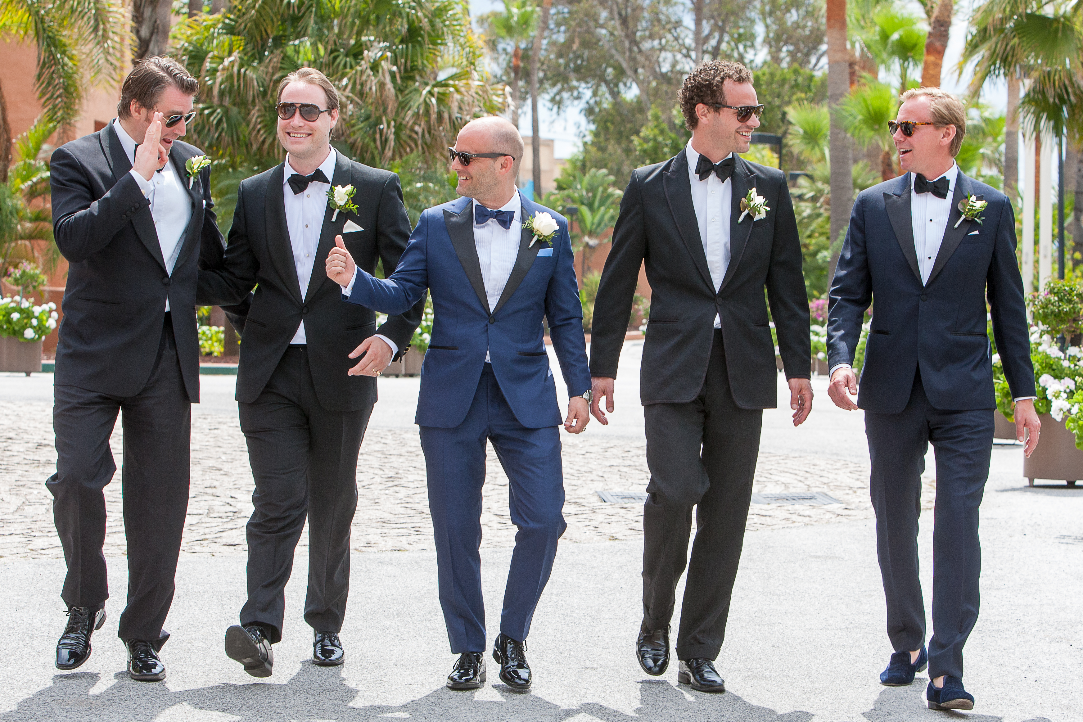 Groomsmen Getting Excited