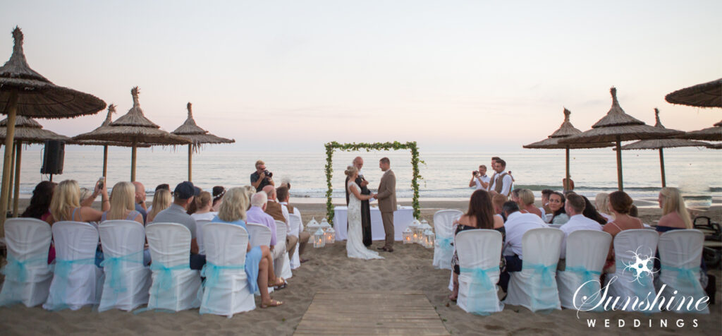 Sunset Spanish Beach Ceremony