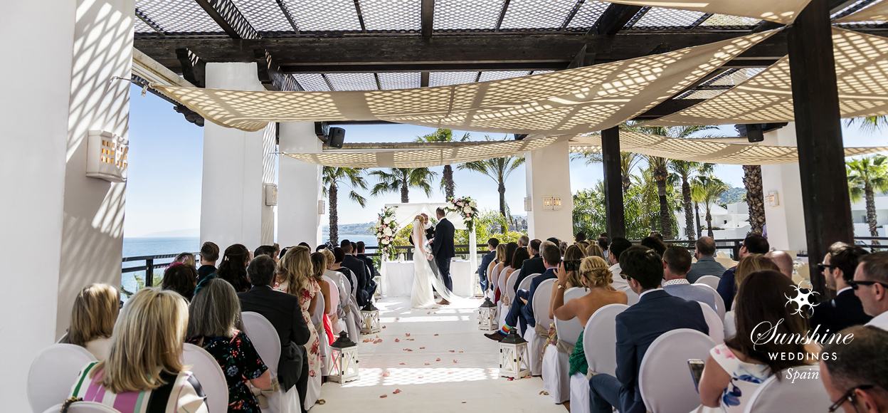 Beach hotel wedding