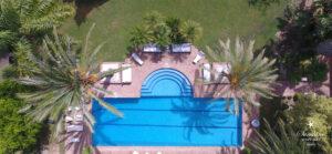 Wedding villa pool