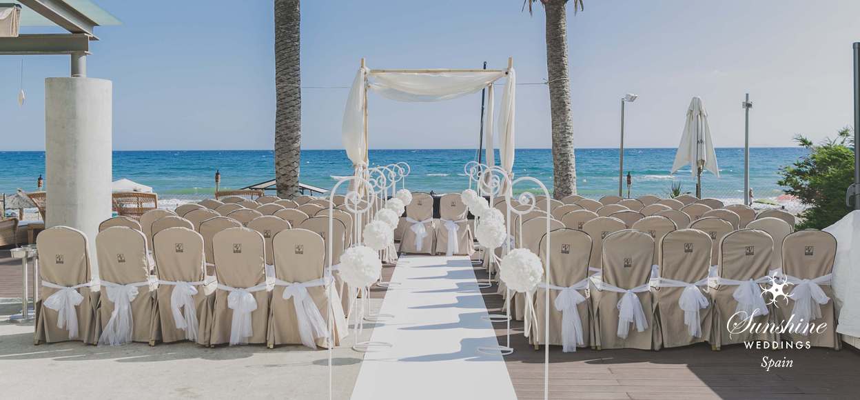 Beach club wedding Spain