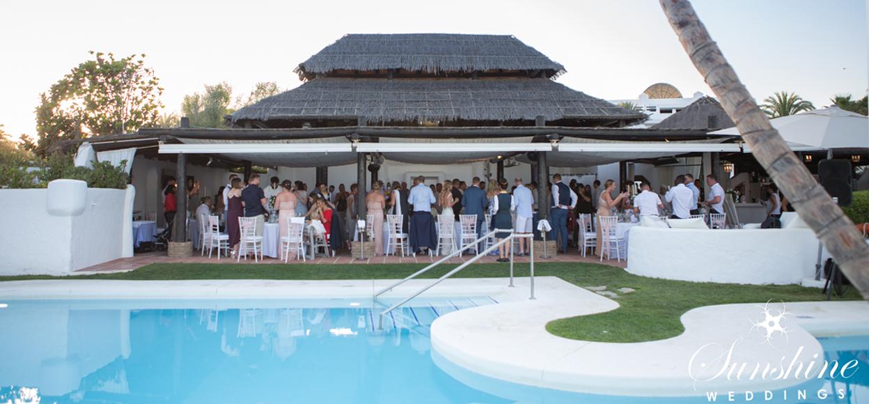 Villa wedding with guests