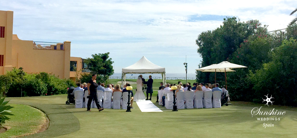 Beach hotel wedding