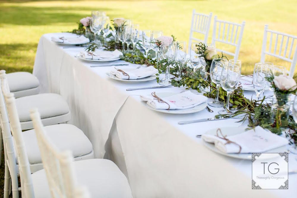 Top Table Wedding Flowers in Mijas