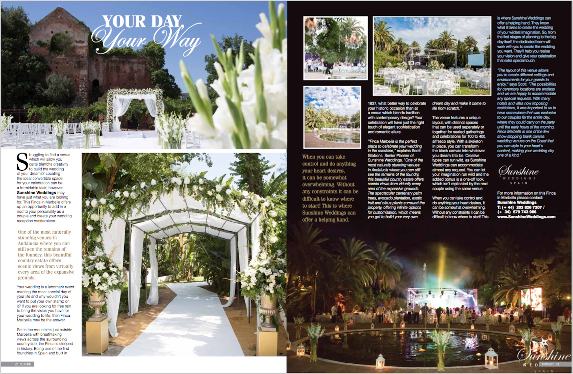 Confetti Wedding Magazine Feature Finca Marbella