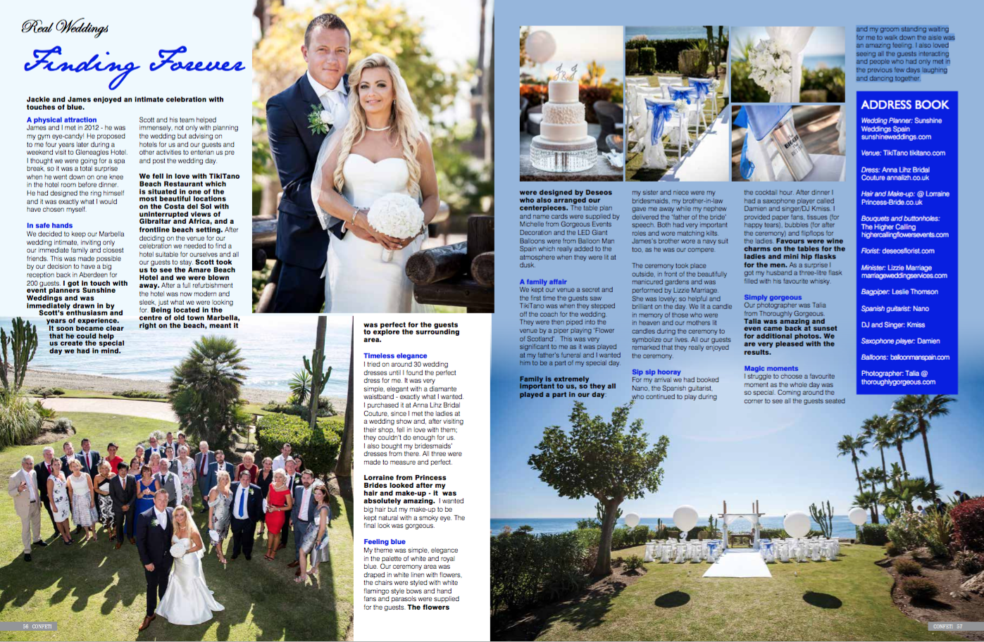 Spanish Wedding Magazine Feature