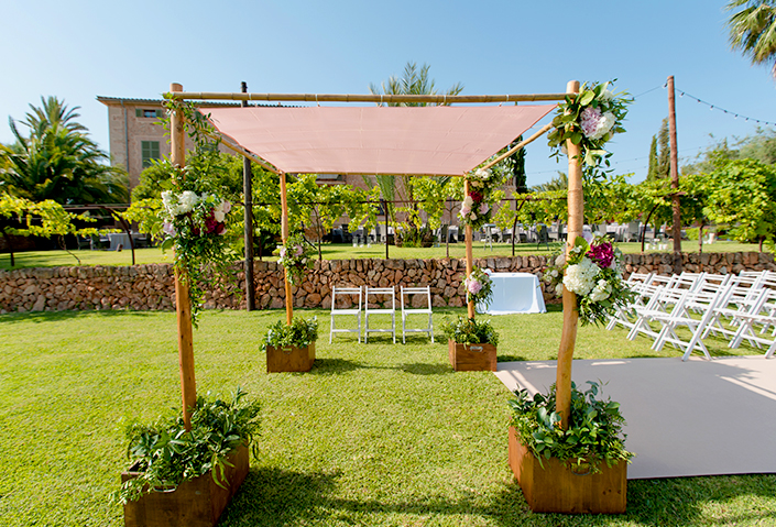 Rustic Finca Wedding Ceremony