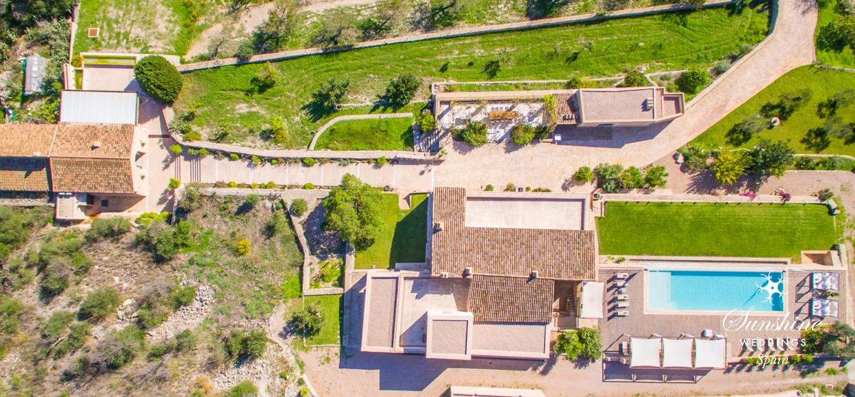 Hilltop wedding villa Spain
