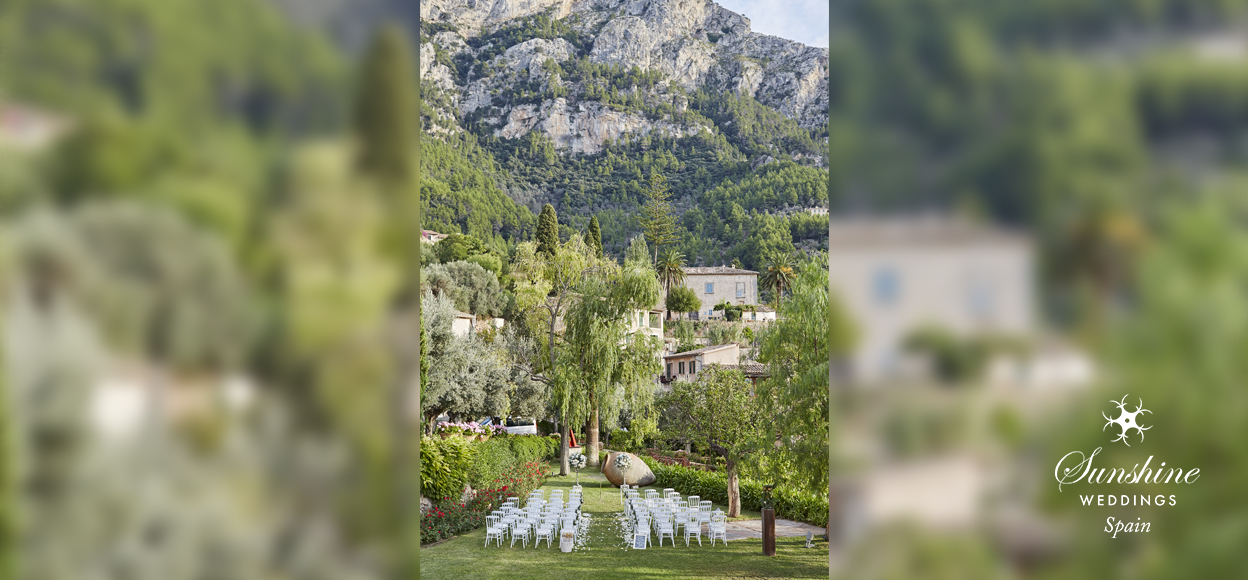 Rustic hilltop hotel for Spanish Wedding