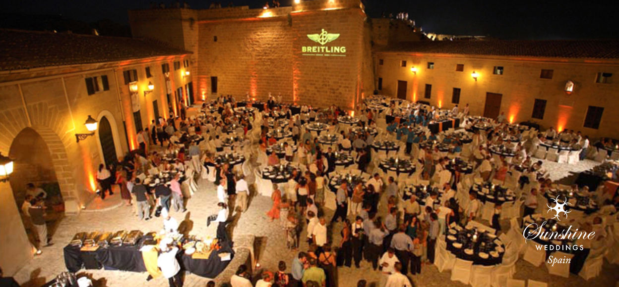 Fortress wedding venue Spain