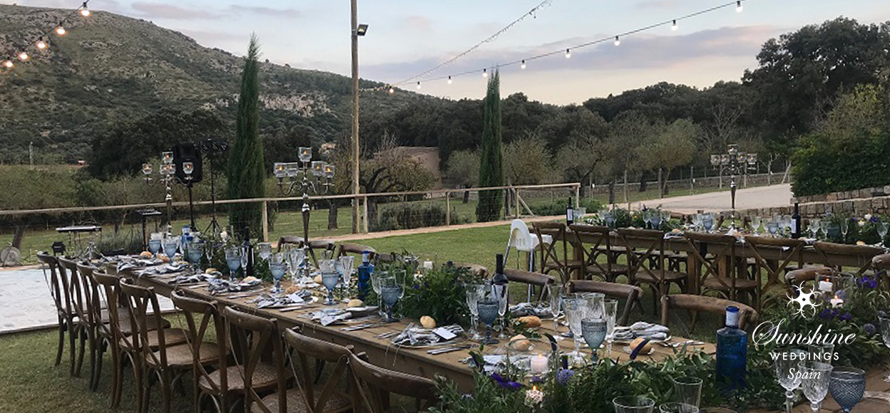 Rustic vineyard wedding Mallorca