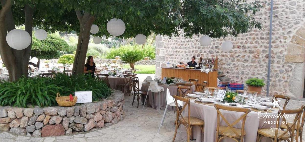 Rustic villa wedding