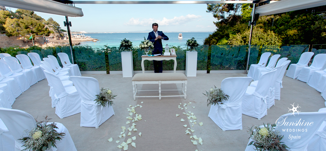 Sea view ceremony Mallorca