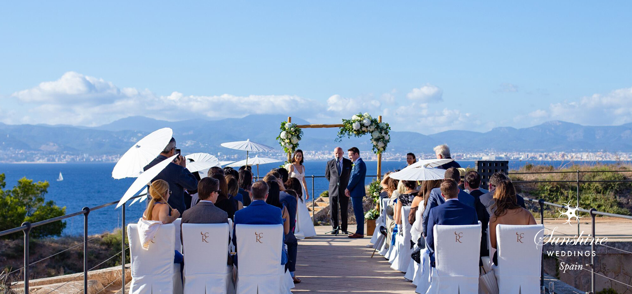 Sea-view castle wedding Mallorca