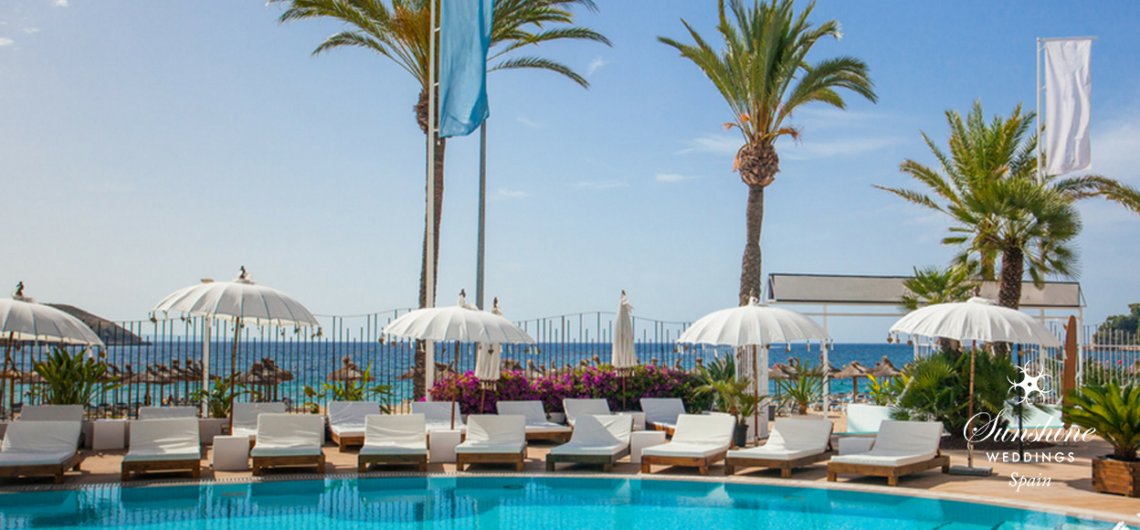 Beach club wedding venue Mallorca