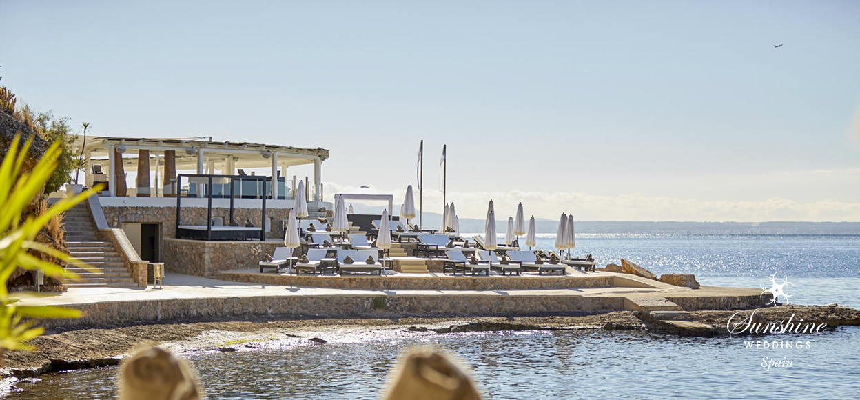 Beach club wedding venue Mallorca
