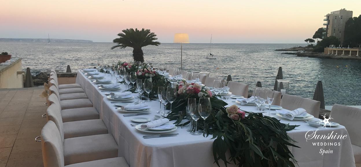 Seaview wedding table Mallorca