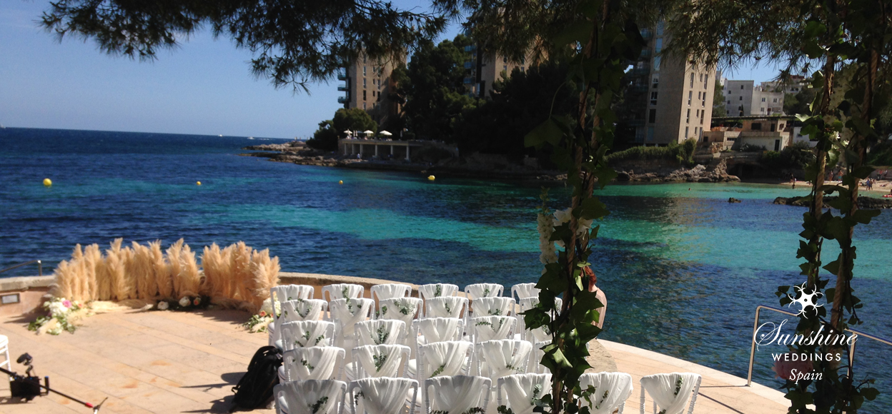 Seaview boutique hotel wedding Mallorca