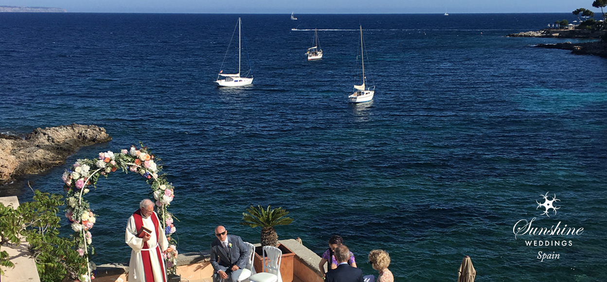 Seaview boutique hotel wedding Mallorca
