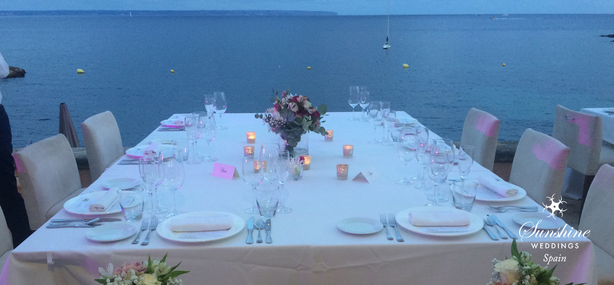 Seaview wedding table Mallorca