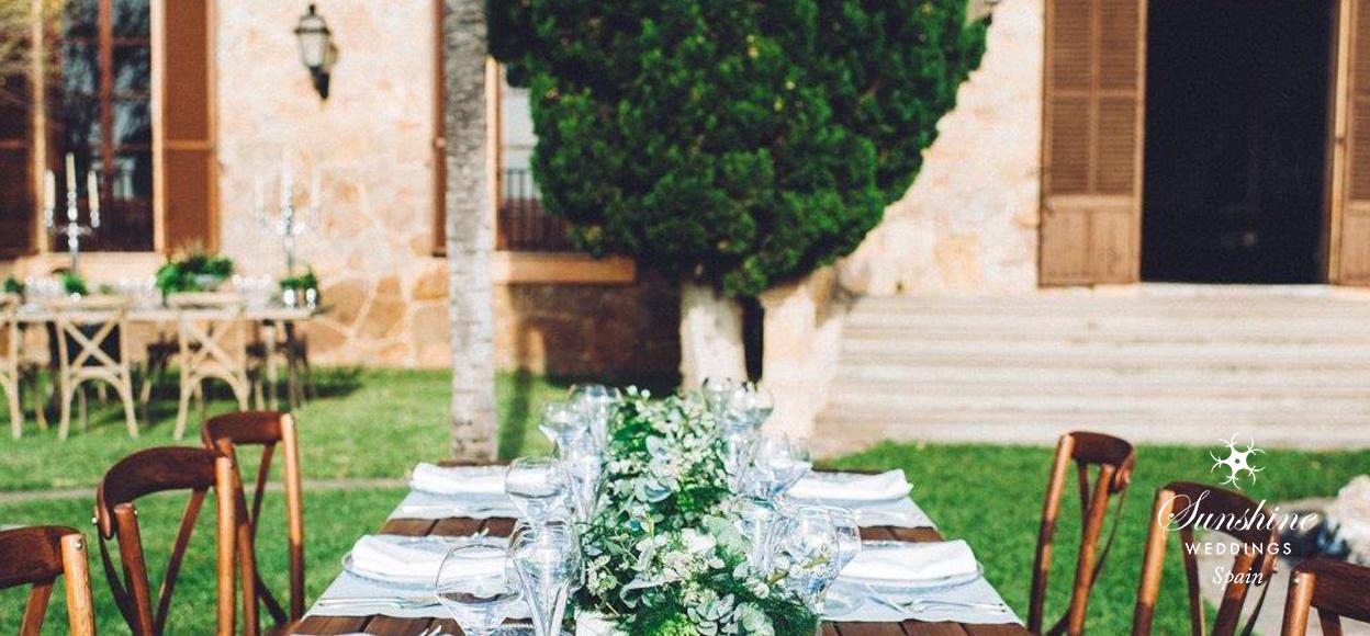 Traditional Spanish finca wedding
