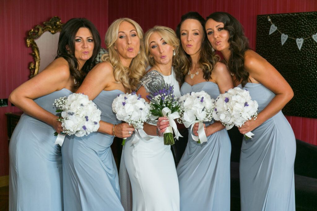 A beautiful bride and her beautiful bridesmaids - make-up by Nicola Cuddy