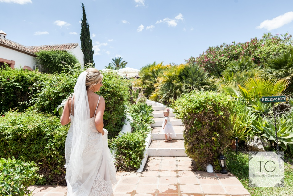 Dazzling wedding photography set in the grounds of the beautiful Hacienda.