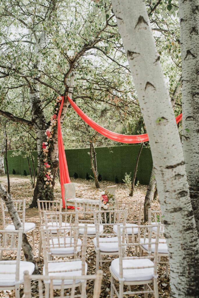 Floral wedding ceremony decor